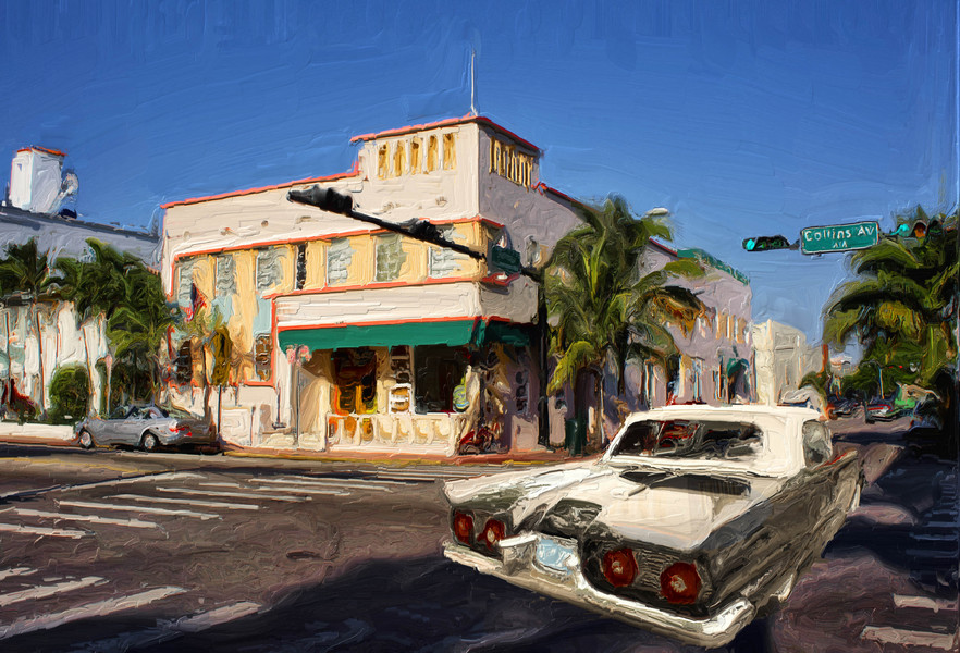 Collins Avenue with 1959 Thunderbird